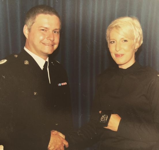 Passing out of police training, at the start of my 5 years as a special constable